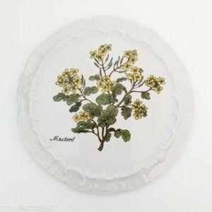 Vintage mustard plant print trivet